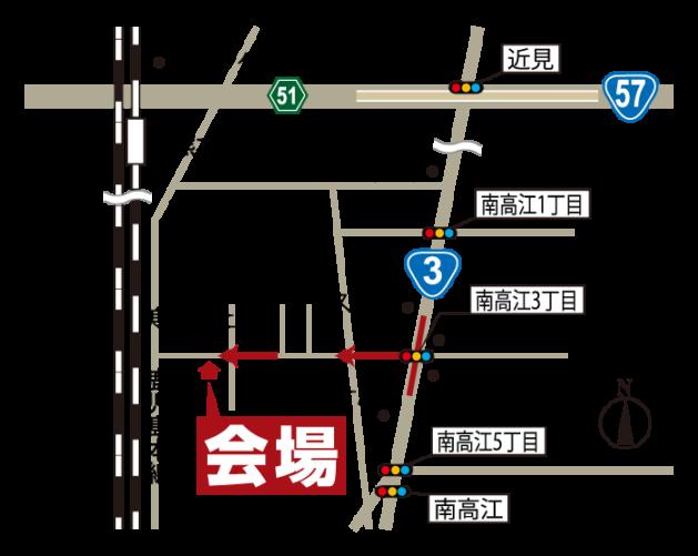 完成見学会|12月5日6日|南区南高江|地図