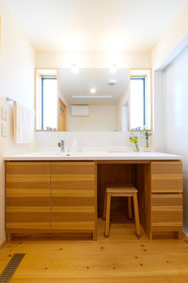 木の家|福岡の新築建築事例|2階建|3LDK|エコワークス|CASE-25|浴室