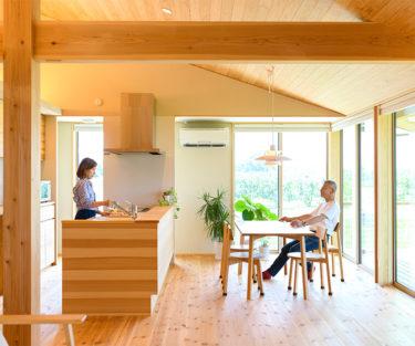木の家|福岡の新築建築事例|平屋|3LDK|エコワークス|CASE-25|リビング