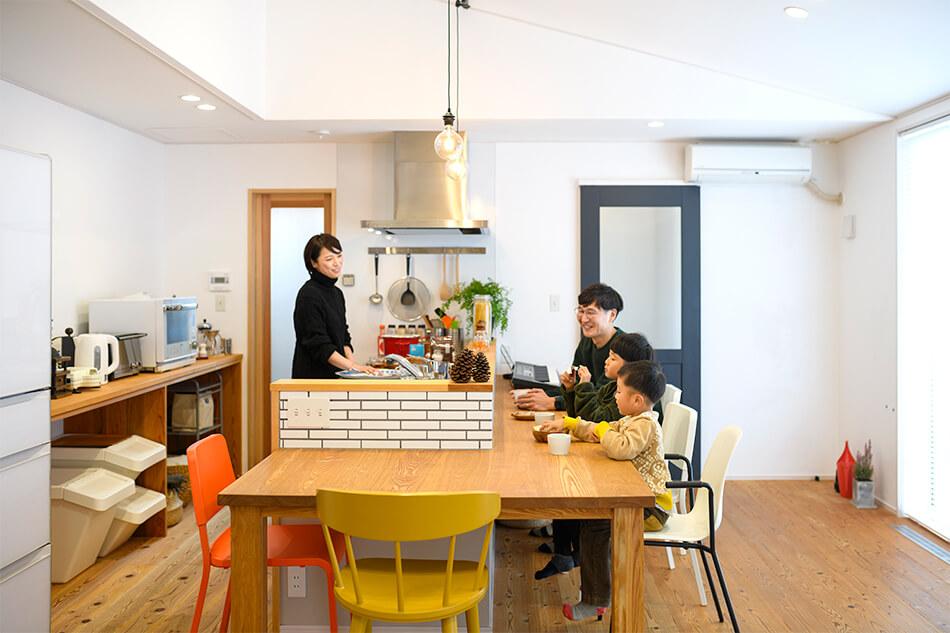 木の家|福岡の新築建築事例|平屋|2LDK|エコワークス|CASE-26|キッチン