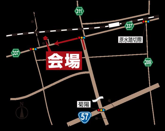 ご入居宅訪問会|3月6日7日|熊本県菊陽町原水|地図